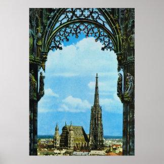 La catedral Viena de St Stephen Póster