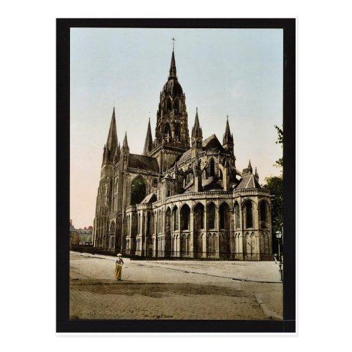 La catedral, vintage Photochrom de Bayeux, Francia Postal