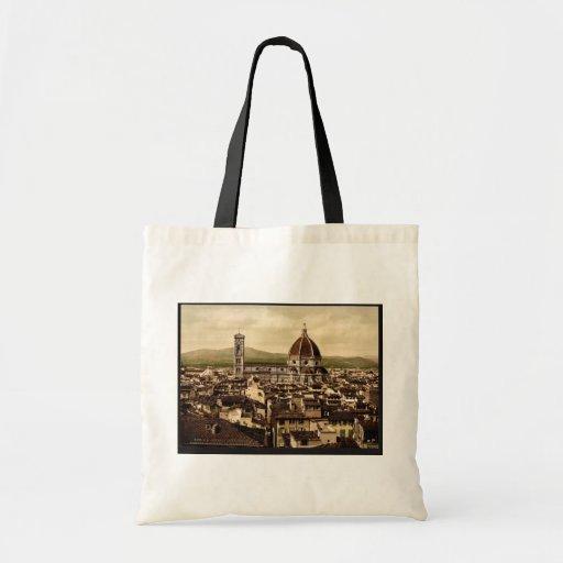 La catedral, visión panorámica desde el palacio de bolsas de mano