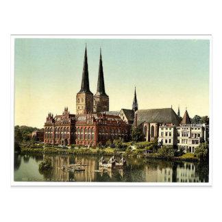 La catedral y el museo, Lubeck, Alemania Pho raro Postales