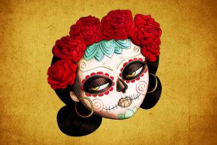 Sugar skull craft tissue paper zazzle la catrina dia de los muertos girl tissue paper mightylinksfo