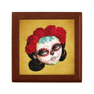 La Catrina - Dia de Los Muertos Girl Joyero Cuadrado Pequeño