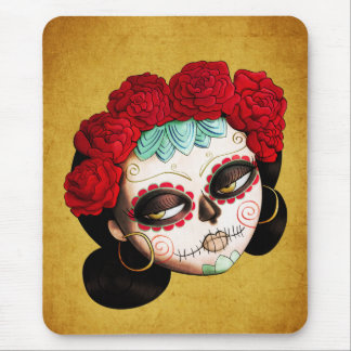 La Catrina - Dia de Los Muertos Girl Mouse Pad