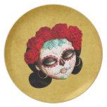 La Catrina - Dia de Los Muertos Girl Plate