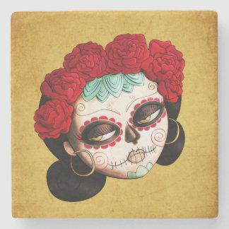 La Catrina - Dia de Los Muertos Girl Posavasos De Piedra