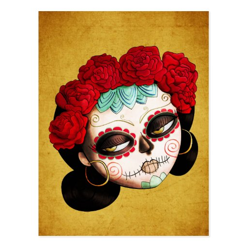 La Catrina - Dia de Los Muertos Girl Postcard