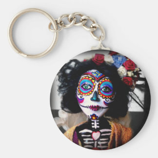La Catrina Invokes the Spirits of the Ancestors Basic Round Button Keychain