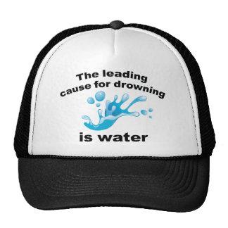 La causa principal para ahogarse es agua gorro