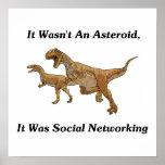 La causa real de la extinción del dinosaurio poster