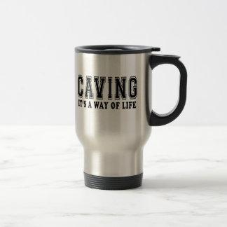 La cavadura de él es manera de vida tazas de café