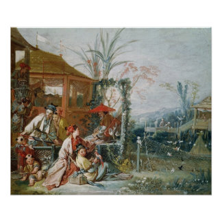La caza china, c.1742 posters