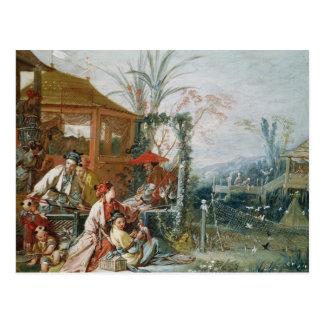 La caza china, c.1742 tarjeta postal