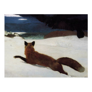 La caza de Fox de Winslow Homer Tarjetas Postales