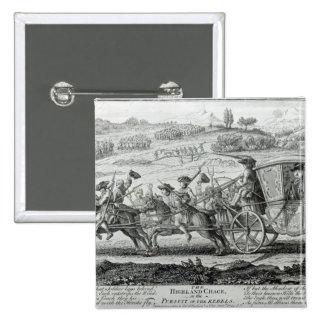 La caza de la montaña, el 21 de febrero de 1745 pin cuadrado