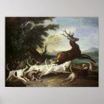 La caza de los ciervos, 1718 poster