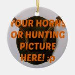 La caza del cazador de los ciervos añade navidad d adorno