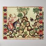 La caza del halcón, del manuscrito posters