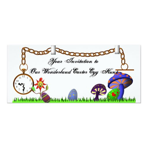 La caza del huevo de Pascua del país de las Invitación 10,1 X 23,5 Cm