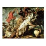 La caza del león, 1621 tarjeta postal