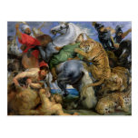 La caza del tigre, c.1616 postales
