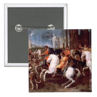 La caza del verraco de Calydonian, 1637-38 Pin Cuadrada 5 Cm