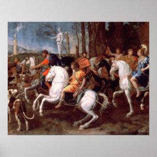La caza del verraco de Calydonian, 1637-38 Póster
