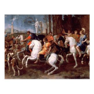 La caza del verraco de Calydonian, 1637-38 Tarjeta Postal