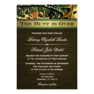 """La caza está sobre la búsqueda de invitaciones del invitación 5"""" x 7"""""""