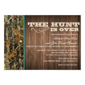 La caza está sobre la invitación del boda