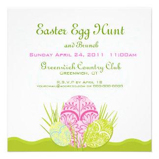 La caza y el brunch del huevo de Pascua invitan Invitación Personalizada
