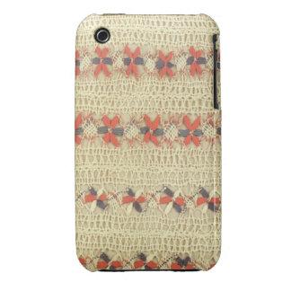 La cebada de encaje del iPhone 3 de las estrellas iPhone 3 Case-Mate Cobertura