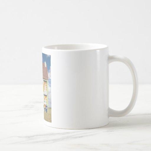 La cebada siega la casa tazas de café