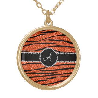 La cebra anaranjada de neón del brillo del monogra grimpolas personalizadas