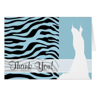 La cebra azul clara raya el estampado de animales felicitacion