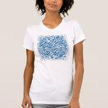 La cebra azul de la diversión raya el estampado de camisetas