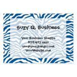 La cebra azul de la diversión raya el estampado de tarjetas de visita grandes