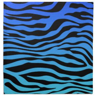 La cebra azul eléctrica raya el estampado de anima servilleta de papel