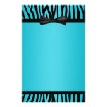 La cebra azul y negra del trullo imprimió el arco papeleria de diseño