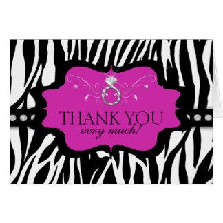 La cebra Bachelorette de Blingin le agradece Tarjeta Pequeña
