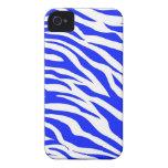 La cebra blanca azul de moda raya estampados de an iPhone 4 Case-Mate protectores
