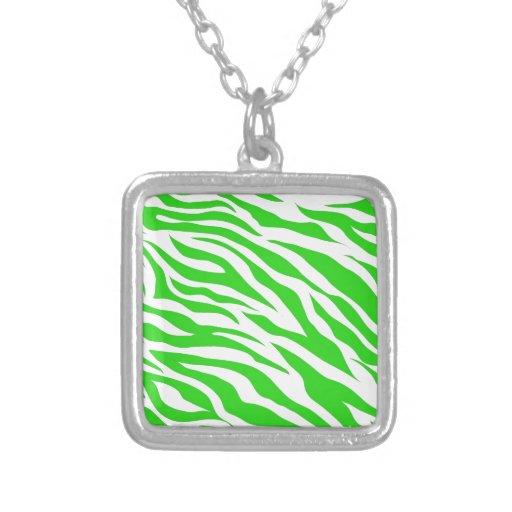 La cebra blanca de la verde lima raya estampados d grimpola