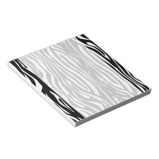 La cebra blanco y negro raya el estampado de anima libreta para notas