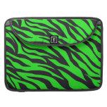 La cebra de neón de moda fresca de la verde lima r funda para macbooks