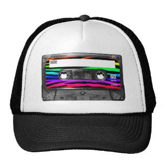 La cebra del arco iris raya el casete gorro de camionero