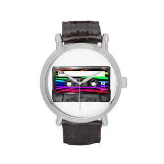 La cebra del arco iris raya el casete relojes