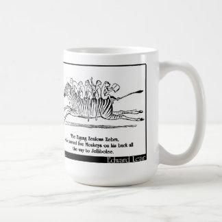 La cebra entusiasta del zigzag tazas de café