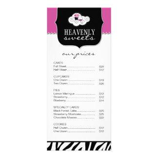 La cebra intrépida raya la tarjeta del estante de  tarjeta publicitaria personalizada