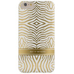 La cebra moderna del oro raya el fondo de 2 funda de iPhone 6 plus barely there