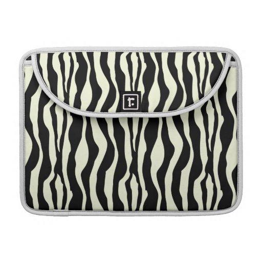 La cebra negra y blanca raya el modelo funda macbook pro