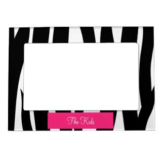 La cebra personalizada raya el marco magnético de  foto de imanes